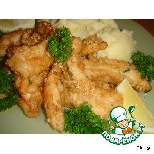 Рецепт: Рыбные пальчики из пикши в кляре