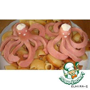 Рецепт: Осьминожки из сосиски