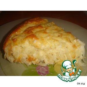 Рецепт: Пирог Ленивая капустница