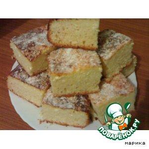 Рецепт: Творожный бисквит