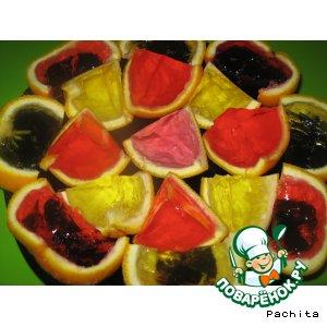 Рецепт: Апельсиновые дольки с желе