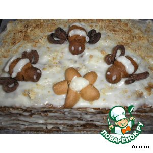 Рецепт: Торт «Чудо»