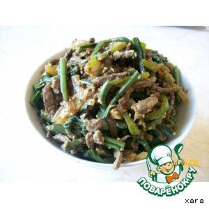 Рецепт: Салат из папоротника