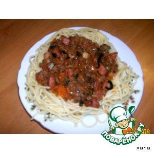 Рецепт: Вариант соуса для спагетти -имитация болоньезе
