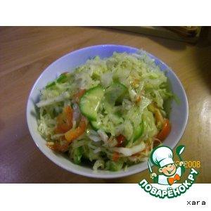 Рецепт: Простецкий овощной салат