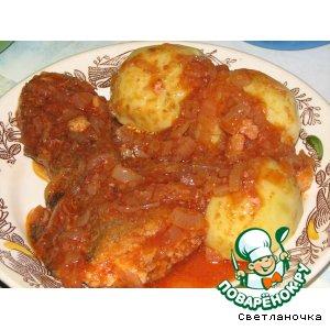 Рецепт: Треска в томатном соусе