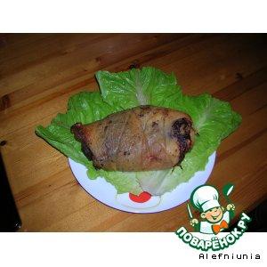 Рецепт: Рулет из свиной щeчки