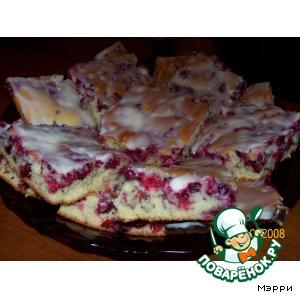 Рецепт: Брусничный пирог Нежность