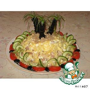 """Рецепт: Салат """"Банановый остров"""""""