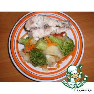 Рецепт: Белая рыба на пару
