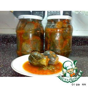 Рецепт Баклажаны маринованные в чесночно-перечной заливке