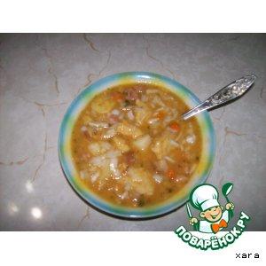 Рецепт: Двойной гороховый суп
