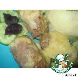 Рецепт: Рулетики из говядины с квашеной капустой