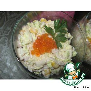 "Рецепт: Салат-коктейль ""Адажио"" с морепродуктами"
