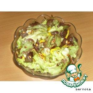 Рецепт: Салат с кедровыми орешками