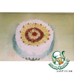 Рецепт: Домашний фруктовый торт