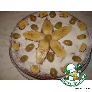 """Рецепт: Банановый пирог """" Осенний цветок"""""""