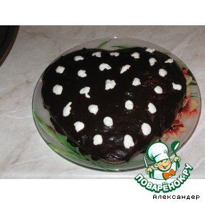 "Рецепт: Шоколадный кекс  ""Божья коровка"""