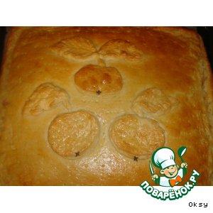 """Рецепт: Слоеный пирог  """"Яблоки с корицей"""""""