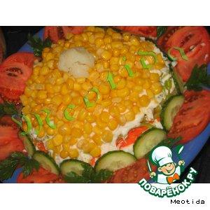 Рецепт: Салат Цветочный блюз
