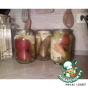 Рецепт: Заготовка Овощное ассорти