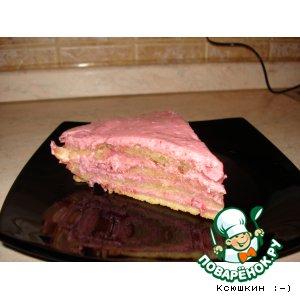 Рецепт: Сметанно-вишнeвый торт