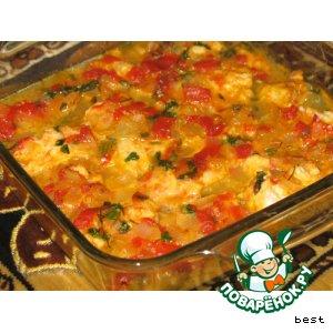 Рецепт: Рыба в томатно-яблочном соусе