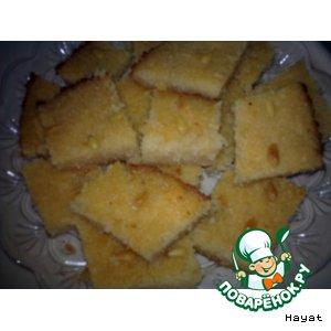 """Рецепт """"Басбуса"""" - манный пирог с кокосовой стружкой"""