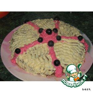 Рецепт: Яблочно-карамельный торт