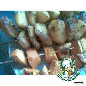 Рецепт: Овощи на шпажках