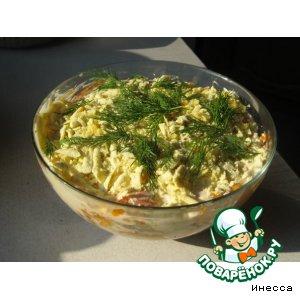Рецепт: Шпротный салат