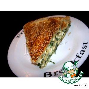 Рецепт: Сырно-луковый пирог Подснежник