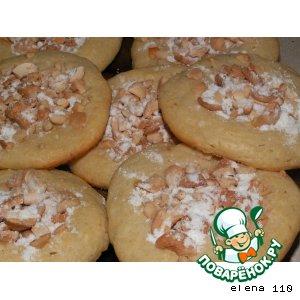Рецепт: Творожное печенье с кешью