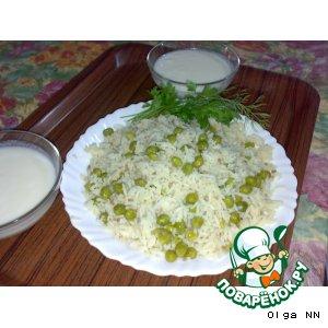 Рецепт: Рис с зеленым горошком