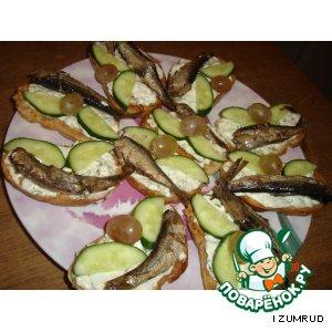 Рецепт: Бутерброд Рыбка