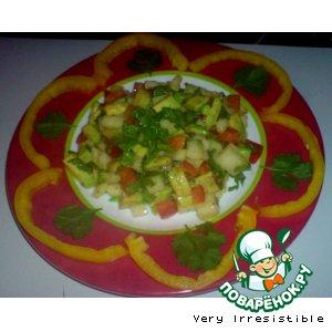 Рецепт: Салат с авокадо и грушей
