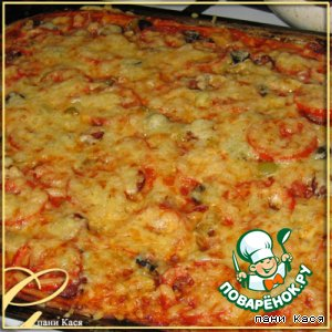 Рецепт: Пицца Много и быстро!!!
