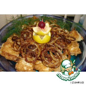 Рецепт: Маслянная рыбка с колечками