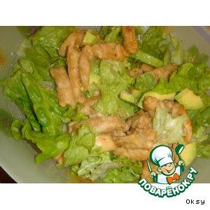 Рецепт: Теплый салат из медовой курицы