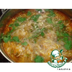 Рецепт: Вегетарианский овощной суп с грибами