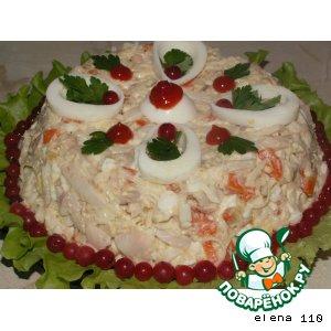 "Рецепт: Салат ""Морской царь"""