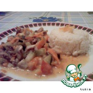 Рецепт: Овощное рагу с грибами