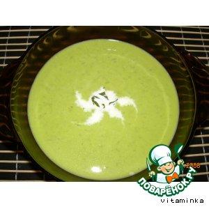 Рецепт: Суп-пюре из зеленого горошка