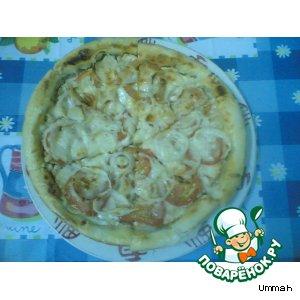 Рецепт Пицца с куриным филе