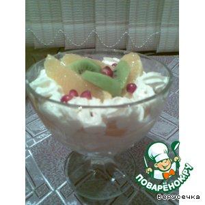 Рецепт: Творожный десерт с персиками