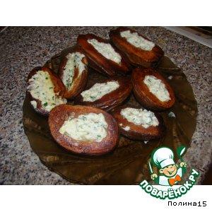Рецепт: Картошка фаршированная, печенная в мундире