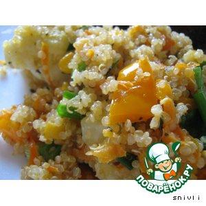 Рецепт: Горячий салат из киноа