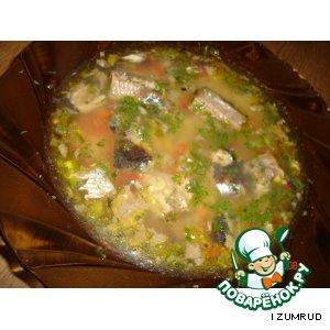 Рецепт: Горохово-рыбный суп