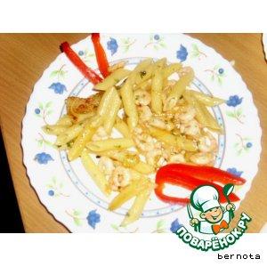 Рецепт: Макароны с креветками