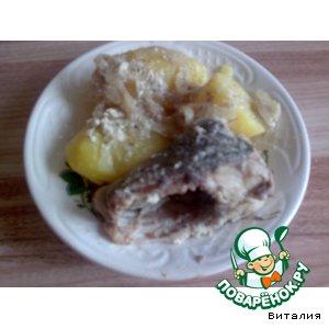 Рецепт: Линь в сметанном соусе